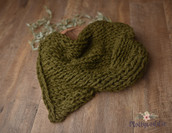 Premium Wool Hand Knitted Layer - Olive