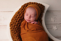 Knitted 100% Wool Bonnets - Select Colour