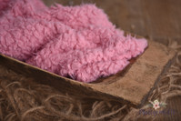 Soft Short Pile Faux Fur Photo Prop - Bubblegum