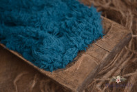 Teal faux fur stuffer