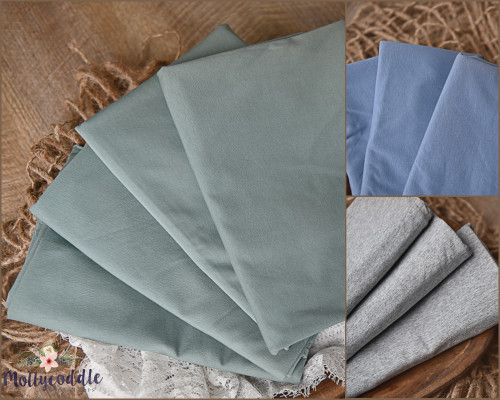 Premium Stretchy Cotton Jersey Fabric Baby Wrap - Choose Colour