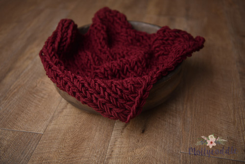 Premium Wool Hand Knitted Layer - Burgundy