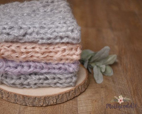 Fluffy Mohair Hand Knitted Layer