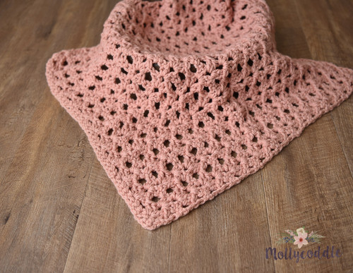 XL warm pink handcrafted layer