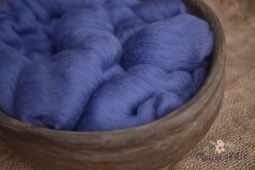 Merino Wool Fluffy Cloud Batt Layer - Blueberry