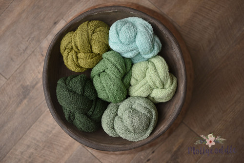 Stretch Knit Baby Wrap Pack - Green Tones