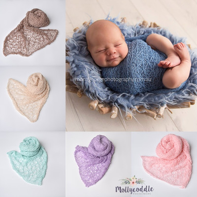 LACE Stretch Knit Baby Wrap - Choose Colour