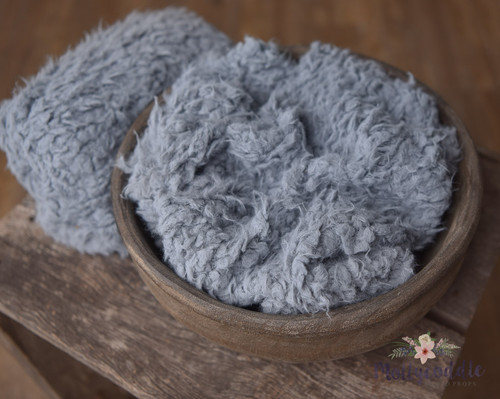 Grey faux fur stuffer
