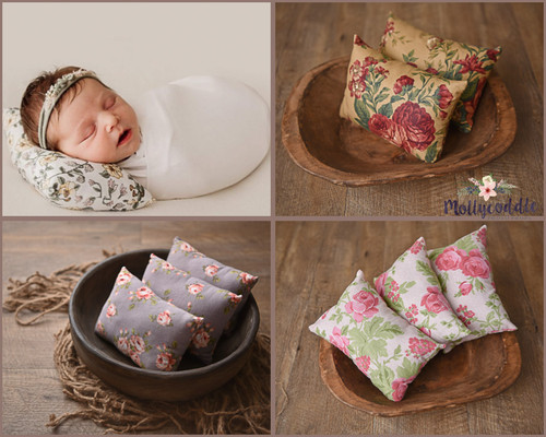 Floral Posing Pillow - Choose Style