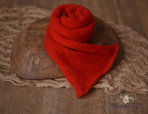 Christmas Red Knitted Wrap