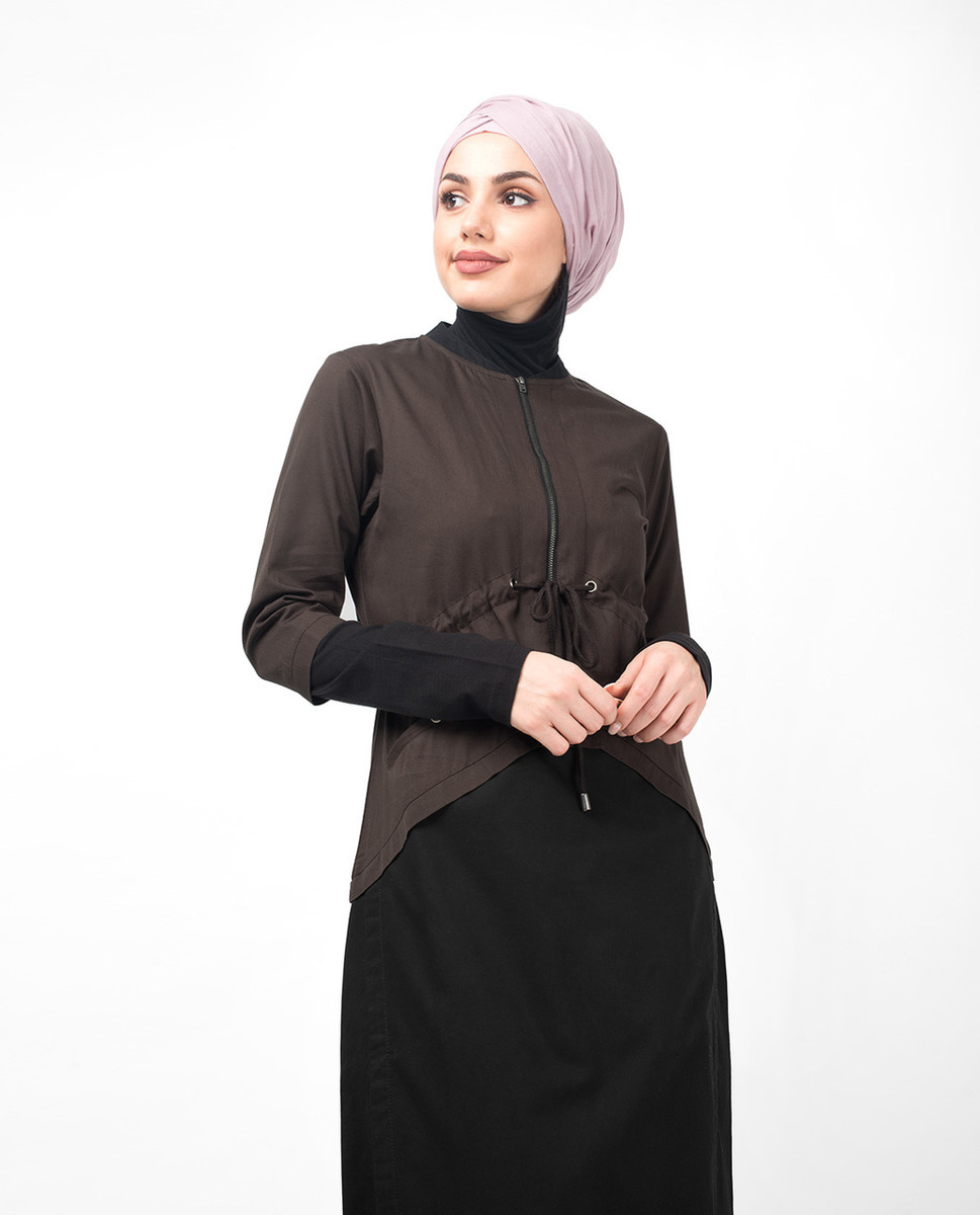 1ffdbef18a6 Dark Olive Curved Hem Jilbab - India