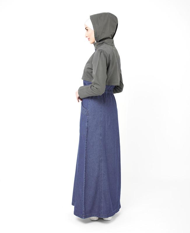 Hooded Denim Jilbab