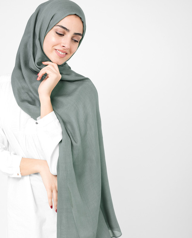 Sedona Sage Grey Viscose Hijab