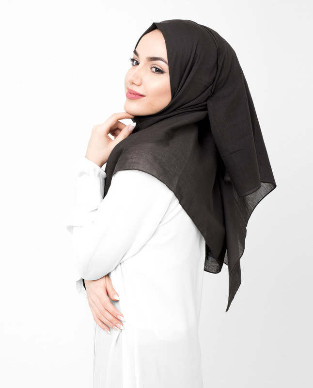 Coffee Bean Brown Cotton Voile Hijab