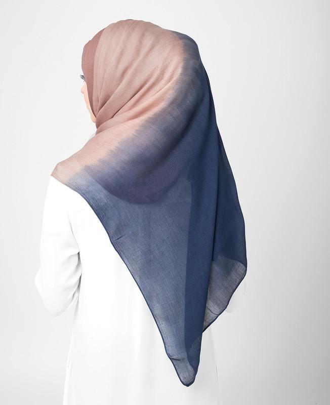 Blue Heaven and Deep Cobalt Ombre Viscose Hijab
