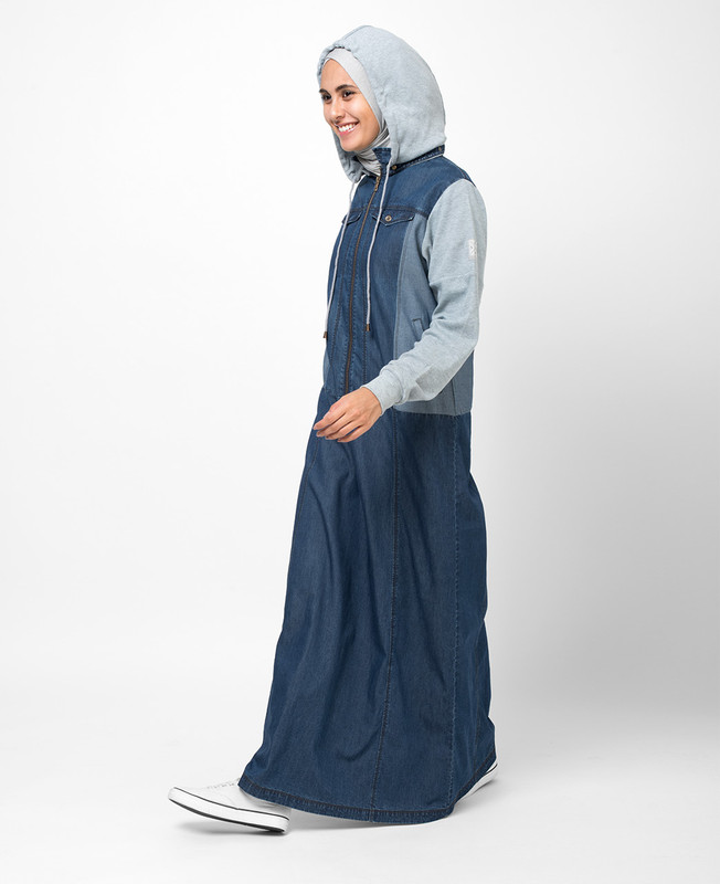 Soft Denim Hooded Jilbab