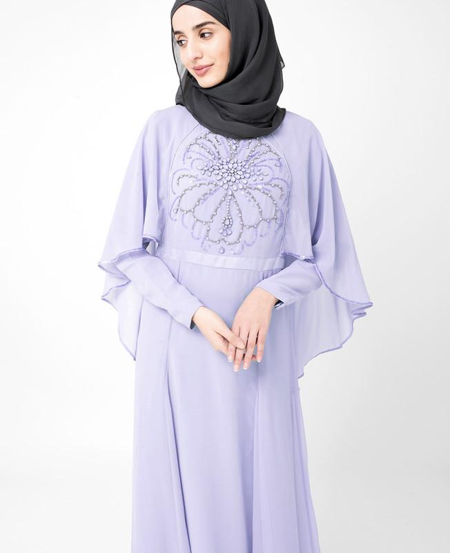 Eventide Blue Embellished gown