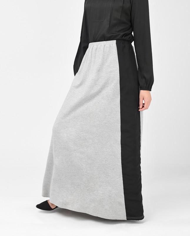 Light Grey and Black Skirt
