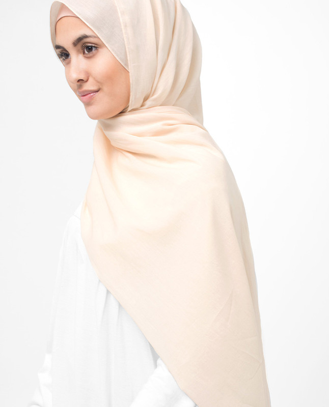 Nude Cotton Voile Hijab