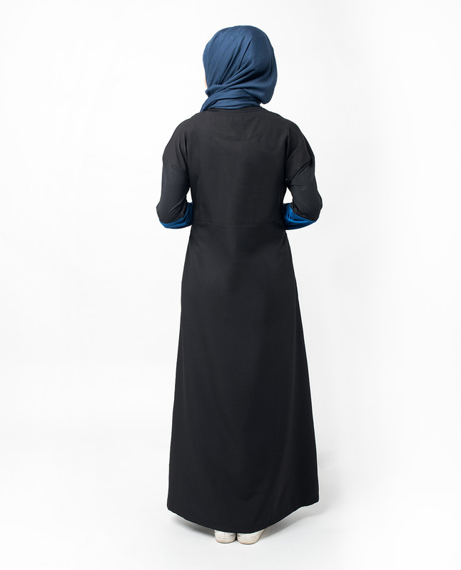 Sports Chic Black Print Jilbab