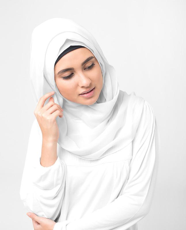Windchime Grey PolyChiffon Hijab