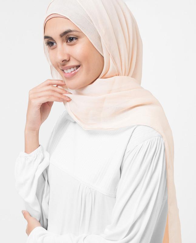 Frappe Beige PolyChiffon Hijab