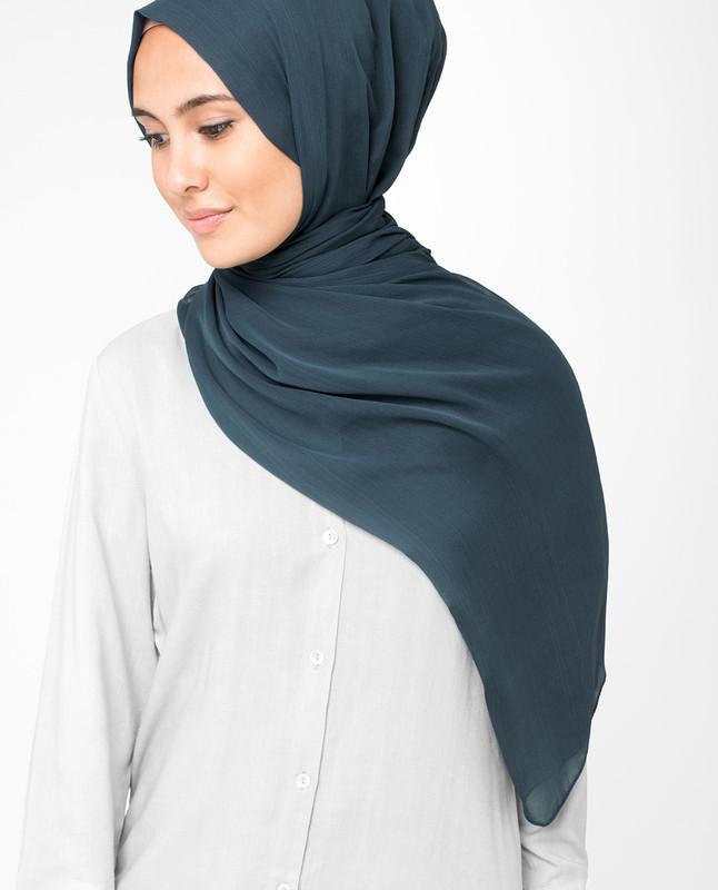 Total Eclipse Blue PolyChiffon Hijab