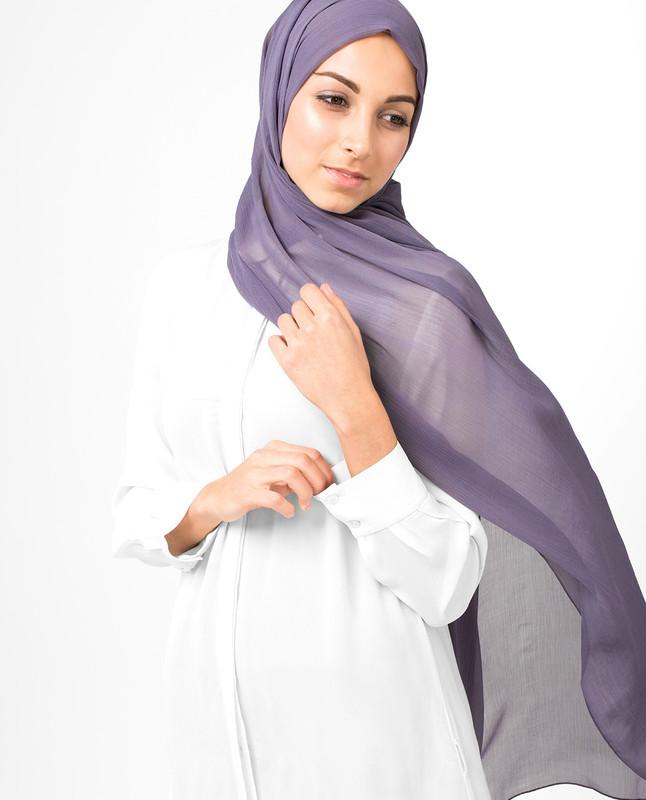 Purple Sage PolyChiffon Hijab