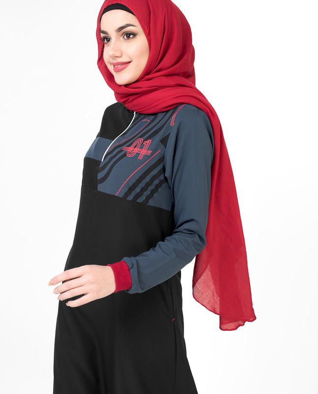 Black 01 Active Jilbab
