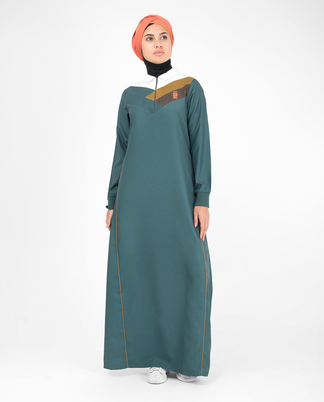Front opening abaya jilbab
