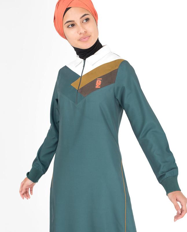 Green abaya jilbab