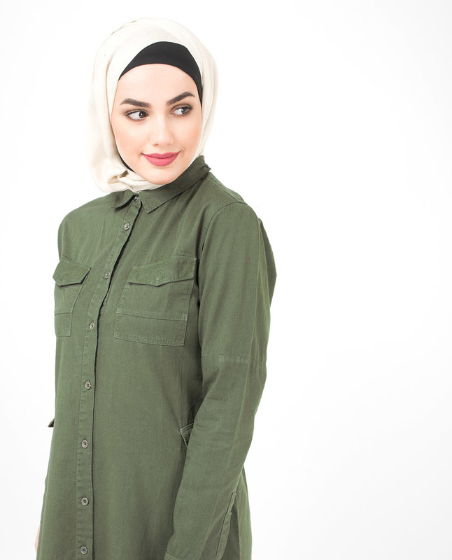Olive abaya jilbab