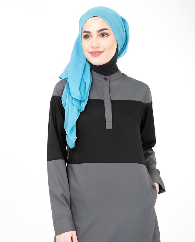 Grey abaya jilbab