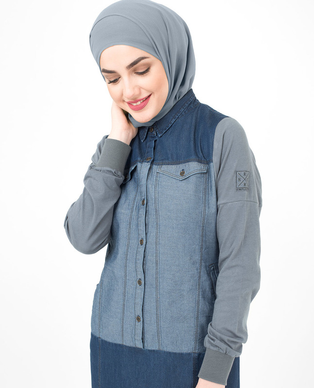 Charcoal Denim Jilbab
