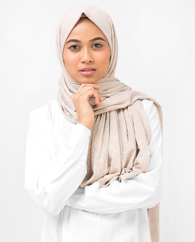 Subtle Striper Viscose Jersey Hijab