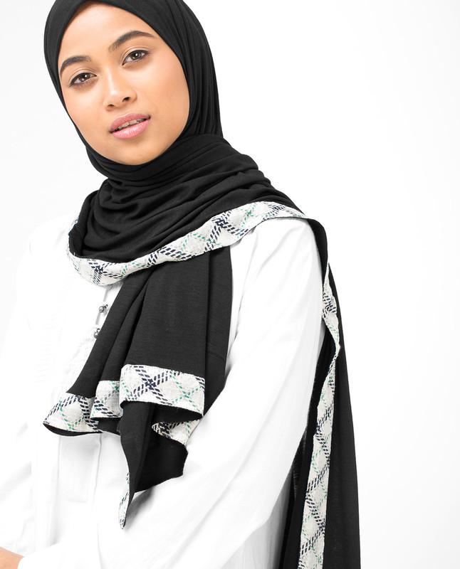 Edgy Hem Viscose Jersey Hijab