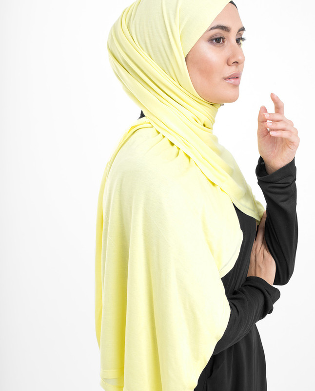 Tender Yellow Viscose Jersey Scarf