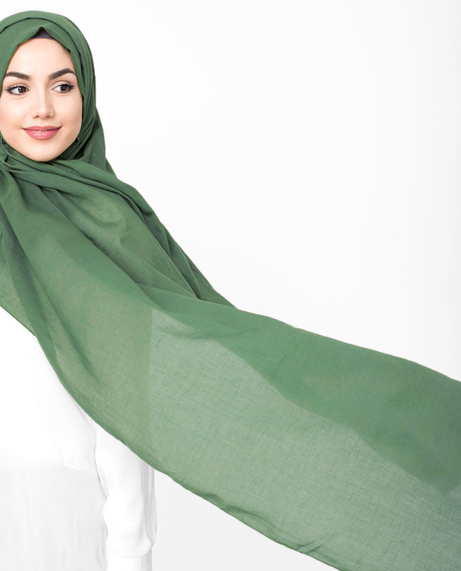 Deep Grass Green Viscose Jersey Scarf