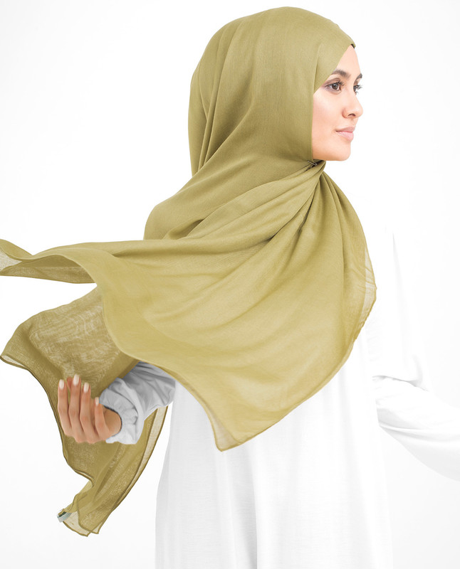Olive Oil Viscose Woven Scarf