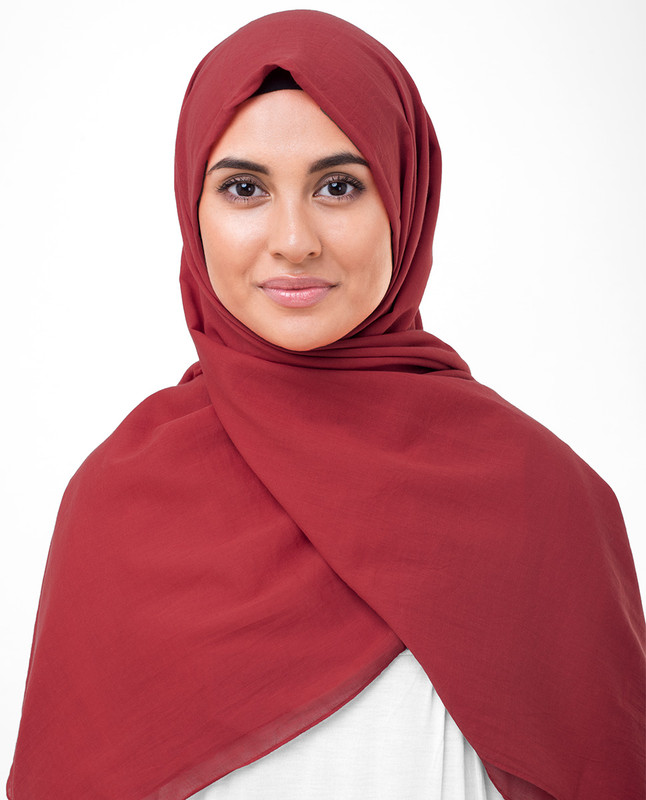 High Risk Red Cotton Voile Scarf