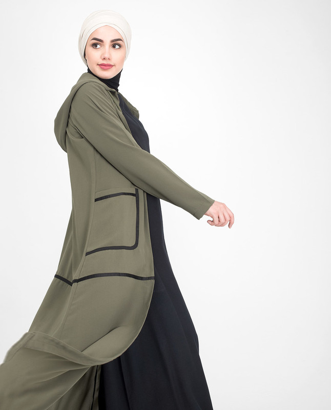 Front open outerwear abaya jilbab