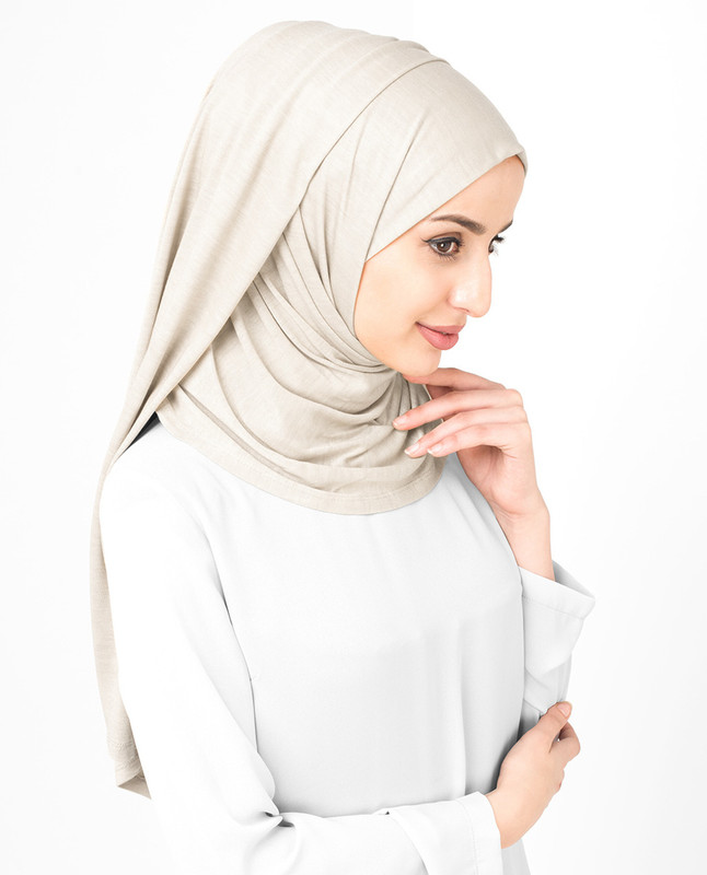 Light grey hijab scarf