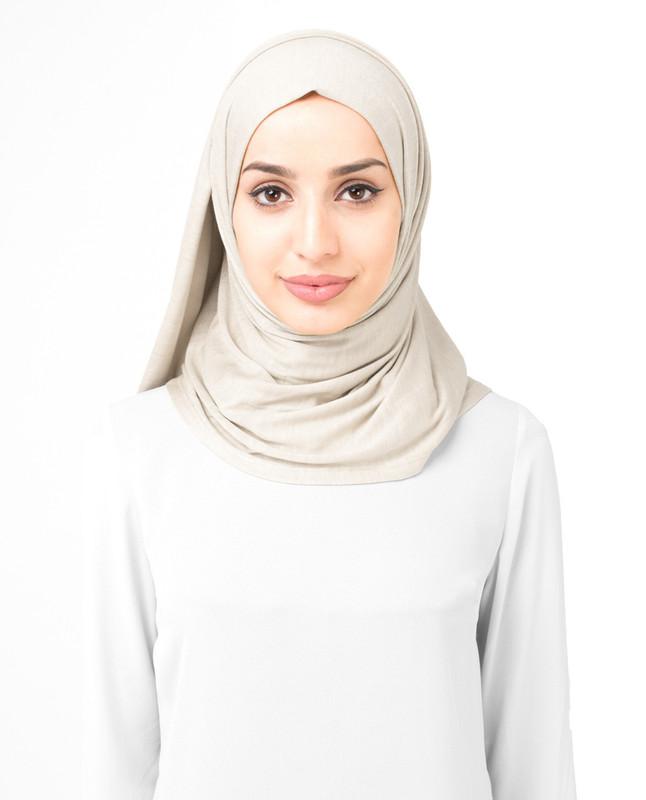 knit grey stylist hijab scarf