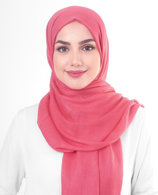 Paradise Pink Viscose Woven Scarf