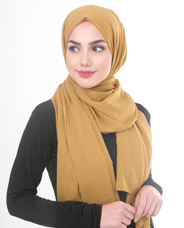 Gold hijab scarf