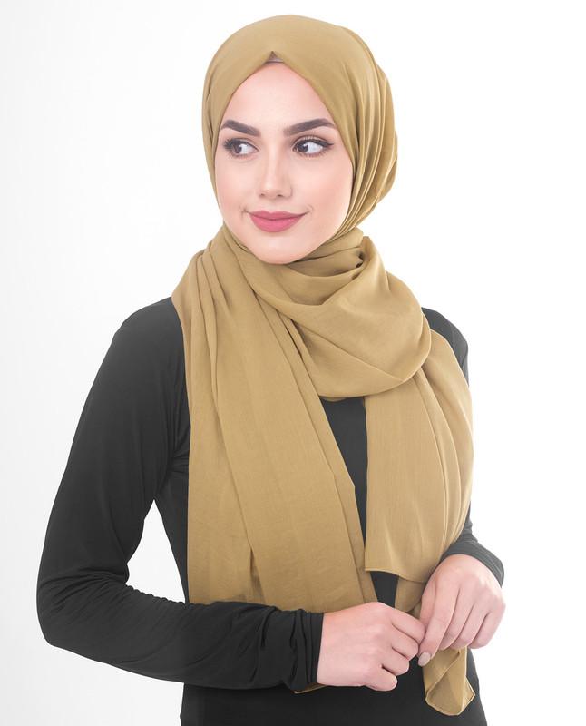 Yellow hijab scarf