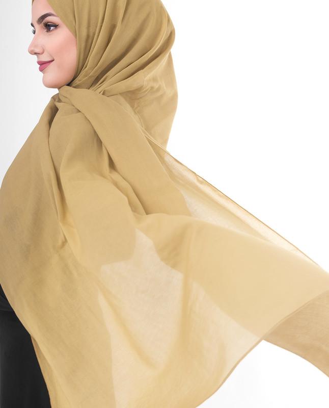 Yellow infinity scarf hijab
