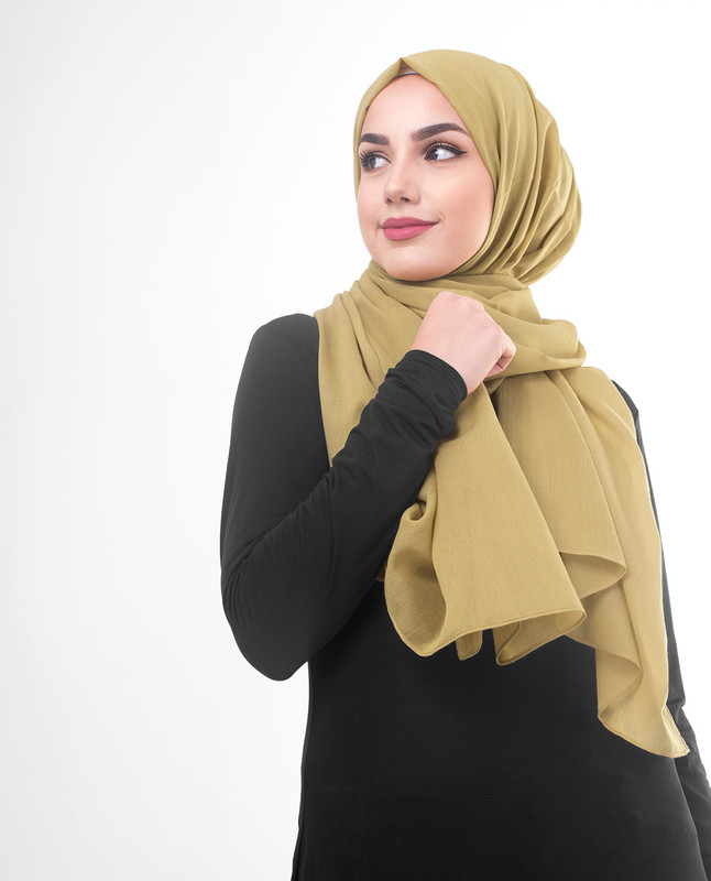 Olive green hijab outfit scarf