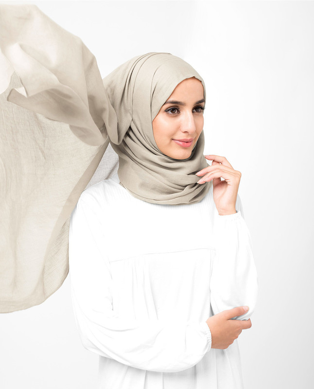 Turtledove Cotton Voile Scarf