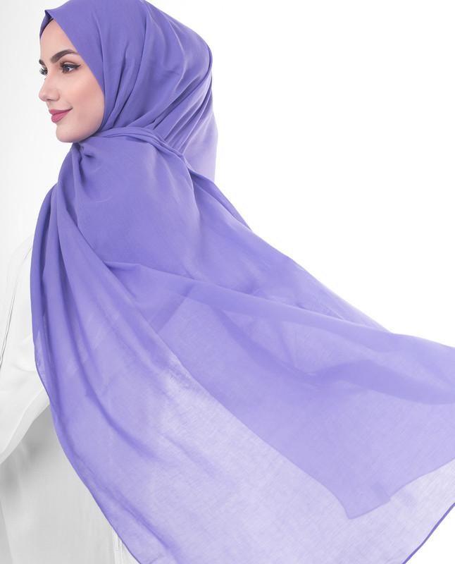 Fashionable purple hijab scarf